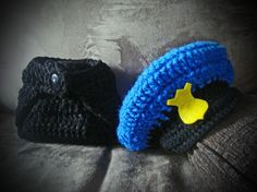 baby knit hat and diaper cover