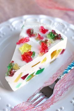 Confetti cream cake (without baking) – Торт - Waffle Jello Recipes, Cake Recipes, Light Cheesecake, Rainbow Waffles, Rainbow Food, Pastry Cake, Cream Cake, No Bake Desserts, Vanilla Cake