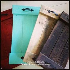 Pallet Projects at Their Finest! Pallet Projects at Their Finest! Pallet Projects at Their Finest! Diy Projects To Try, Craft Projects, Easy Pallet Projects, Scrap Wood Projects, Wood Pallets Projects, Simple Wood Projects, Scrap Wood Art, Pallet Tray, Wood Tray