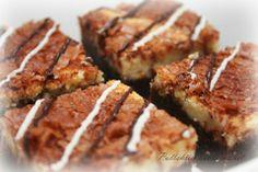 Zebra bars eli brownien ja juustokakun yhdistelmä. Väliin tulee appelsiininmakuinen täyte.