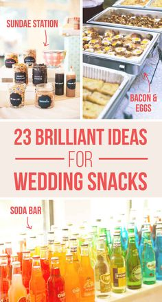 23 Brilliant Wedding Bars From Couples Who Dared To Dream - Love the Soda Bar, Popsicle and sparkling wine, and the salsa bar. Wedding Reception, Our Wedding, Dream Wedding, Wedding Tips, Reception Food, Wedding Stuff, Wedding Catering, Wedding Menu, Wedding Invitations