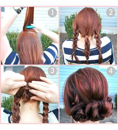 10 simple hairstyles for school