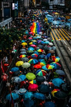 Pride Parade in Hong Kong with an element of Umbrella movement also happening at the same time in Hong Kong. Photography Props Kids, Party Photography, Couple Photography Poses, Amazing Photography, Landscape Photography, World Beautiful City, Lgbt, Protest Posters, Story Of The World