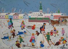 images russian winter paintings | Zuzana Chalupova | Naive Art Gallery
