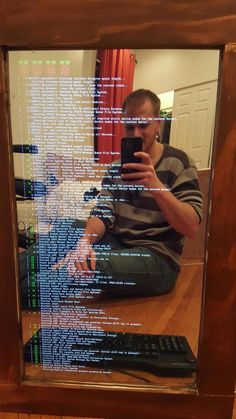 He Starts With An Old Mirror, And Turns It Into Something Straight Out Of Science Fiction