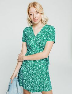 Robe cache cœur  femme Vert Vif | Bizzbee