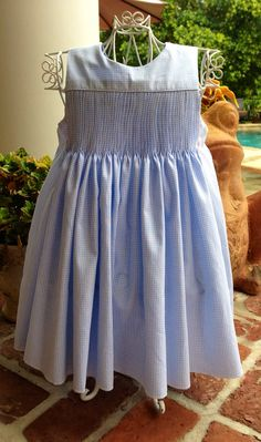 Girls' Ready to Smock Sundress. Sizes 1-6. by roxanesheirlooms