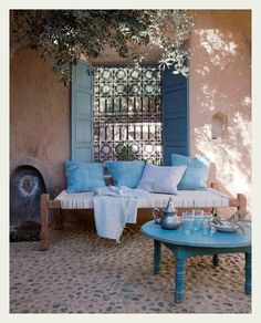 Deck up your space the Indian way and throw in some white and subtle blues. #WinterWonderland