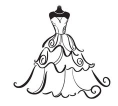 dress silhouettes bridal clipart of a silhouette of a beautiful rh pinterest co uk bride clipart free bridal clip art free