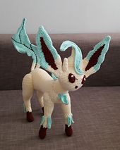 FREE THRU Ravelry: Leafeon Pokemon (Eevee evolution) DESIGNER HAS 4 OTHERS FREE AS WELL =pattern by Fiona Lesley