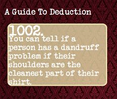 (49) a guide to deduction | Tumblr