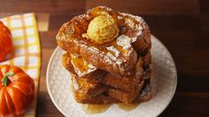 Brunch This Weekend? Pumpkin French Toast – Famous Last Words What's For Breakfast, Breakfast Dishes, Breakfast Recipes, Perfect Breakfast, Pumpkin French Toast, French Toast Bake, Tasty, Yummy Food, Pumpkin Recipes