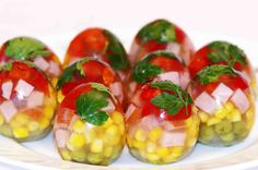 Easter food ideas. Jelly egg. Easter dishes.