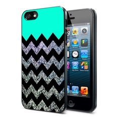 "Glitter Print Chevron - iPhone 4/4s/5 case Black/White Case | monggodiborongbrowh - Accessories on ArtFire -- ""quality work from a motivated young seller"""