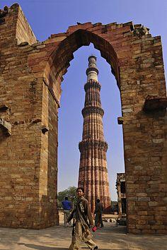 Qutub Minar in New Delhi, India.