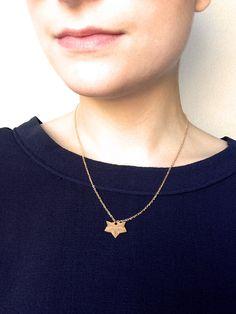 Collier doré loup origami par LesbijouxdeManon sur Etsy
