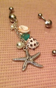 Ocean belly ring  on Etsy, $15.00