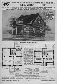 1900 Sears House Plans - √ 16 1900 Sears House Plans , the Early Kit Homes Vintage House Plans, Modern House Plans, Vintage Homes, Bungalow Floor Plans, House Floor Plans, Terrazzo, Historia Universal, Home Catalogue, Concrete Blocks