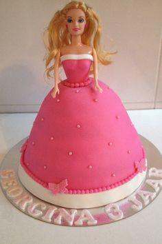 Barbie pink princess cake / prinses roze taart