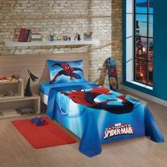 Jogo de cama infantil spider man lepper