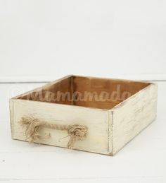 Rustic crate photo prop, vintage style wood box, newborn photography prop, newborn photo prop, creamy box