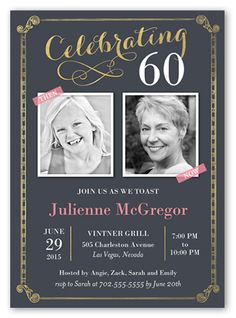 Custom birthday invitation 30th 40th 50th 60th 70th 75th celebration scrolls stationery card by blonde designs another year older invite all the guests with this stylish birthday invitation bookmarktalkfo Images