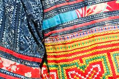 close up hmong embroidery, hmong batik, Laos Hmong jacket, ethnic dress, ethnic style Laos, Textiles, Ethnic Dress, Red Bags, Tribal Fashion, Style Guides, Embroidery, My Style, Fabric