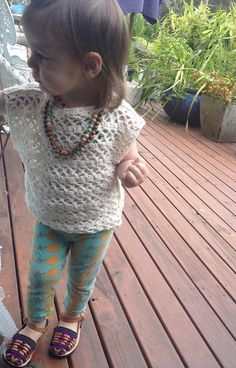 Lace My Love crochet top, bolero,vest. Cotton hippy boho toddler beachwear lace tunic.