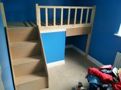 Cabin bed over stair box Izzys Room Pinterest Cabin Box and
