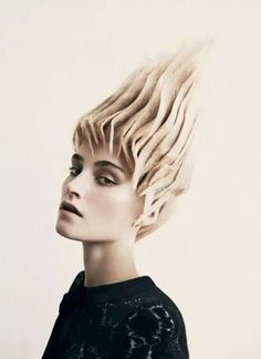 Cool futuristic hair