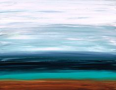 Buy Art White Black Aqua Brown Copper Abstract Landcape Modern Sky Gray Soothing Shore Zen Mystic Calm Painting Artwork Cummings Earthy on Etsy, $526.26 CAD
