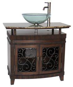 """36"""" Benton Collection unqiue Artturi Vessel Sink Bathroom Vanity Model # Q226BN"""