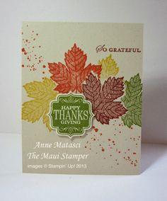 Maui Stamper RemARKable Blog Tour handmade Autumn card
