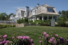 Only in my dreams! Worth the time to Tour a Seaside Home Built with Old World Charm in Cape Cod.  Go to the actual site to see more photos of this gorgeous $7 million home.