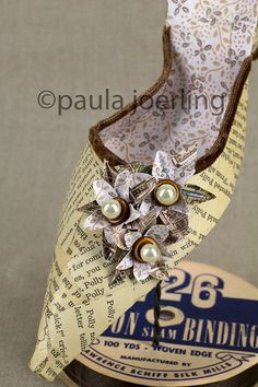 Paper Shoe Sculpture  Polly by PaulaJoerlingStudio on Etsy, $225.00
