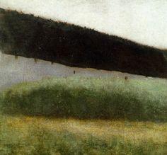 La Ferme, 34,5cm x 38cm,1883, Vilhelm Hammershøi - Collection particulière,  Danemark.