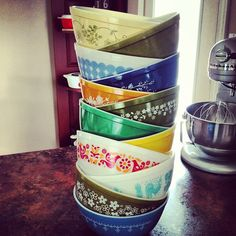 Stack of 403's, Pyrex