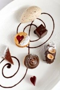 Chocolate tasting plate by Pastry chef Kathryn King