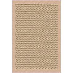 International Woven Indoor/ Outdoor Patio Herringbone Beige/ Green Rug (1'10 x 2'11) (36071846502038) (Olefin, Geometric)