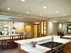 Kitchen Photos Tiered Kitchen Island With Cooktop Design, Pictures, Remodel, Decor and Ideas Kitchen Island With Cooktop, Island Cooktop, Kitchen Layouts With Island, Kitchen Island Table, Kitchen Island Upstand, Kitchen Islands, Kitchen Paint, New Kitchen, Kitchen Ideas