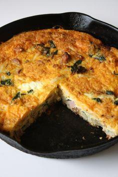 Egg and Potato Fritata - Lou Lou Girls Potato Frittata, Quiche, Reading Eggs, Holiday Ham, Brunch, Potatoes, Dishes, Breakfast