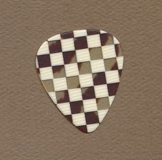 checkered checkerboard guitar pick standard shape medium gauge #GuitarPick