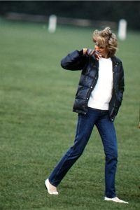May 12, 1985: Princess Diana at polo match at Guards Polo Club.