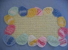 Easter Egg Place Mat Free Crochet Pattern