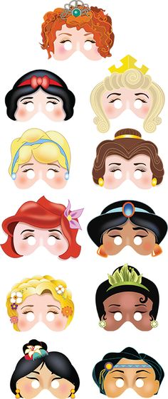 Printable Princess masks $17