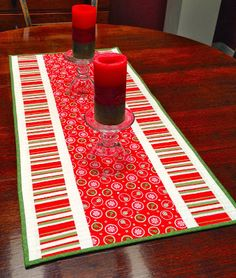 Simply Miss Luella  Easy Table Runner from the book Simply Modern Christmas.
