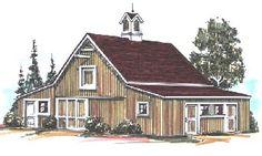 Barn Home Sample Floor Plans - Barn Kits   Horse Barns   Pole