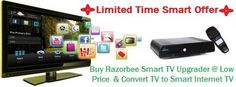 Buy Razorbee Smart TV Upgrader at Rs. 1546: Turn TV to Smart Internet TV | Free Mobile/PC Apps & News Updates