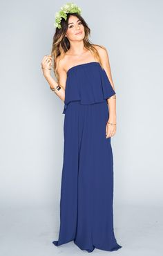 $162 Hacienda Maxi Dress ~ Navy Crisp ~ Show Me Your Mumu