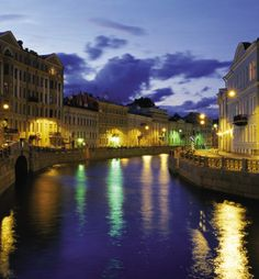A nighttime cruise down St. Petersburg's canals makes for a magical moment.